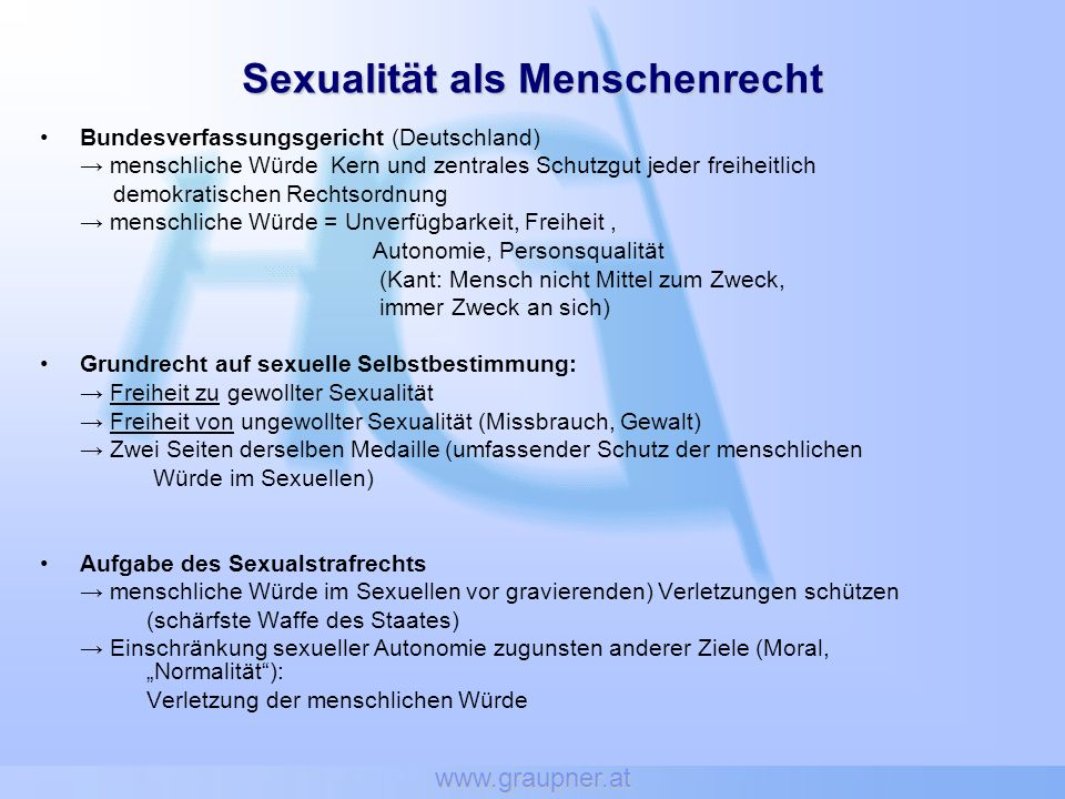 Sexualität als Menschenrecht