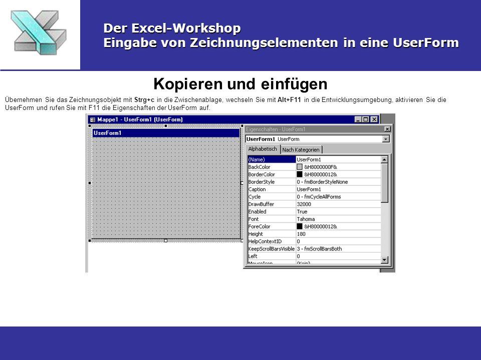 Kopieren und einfügen Der Excel-Workshop