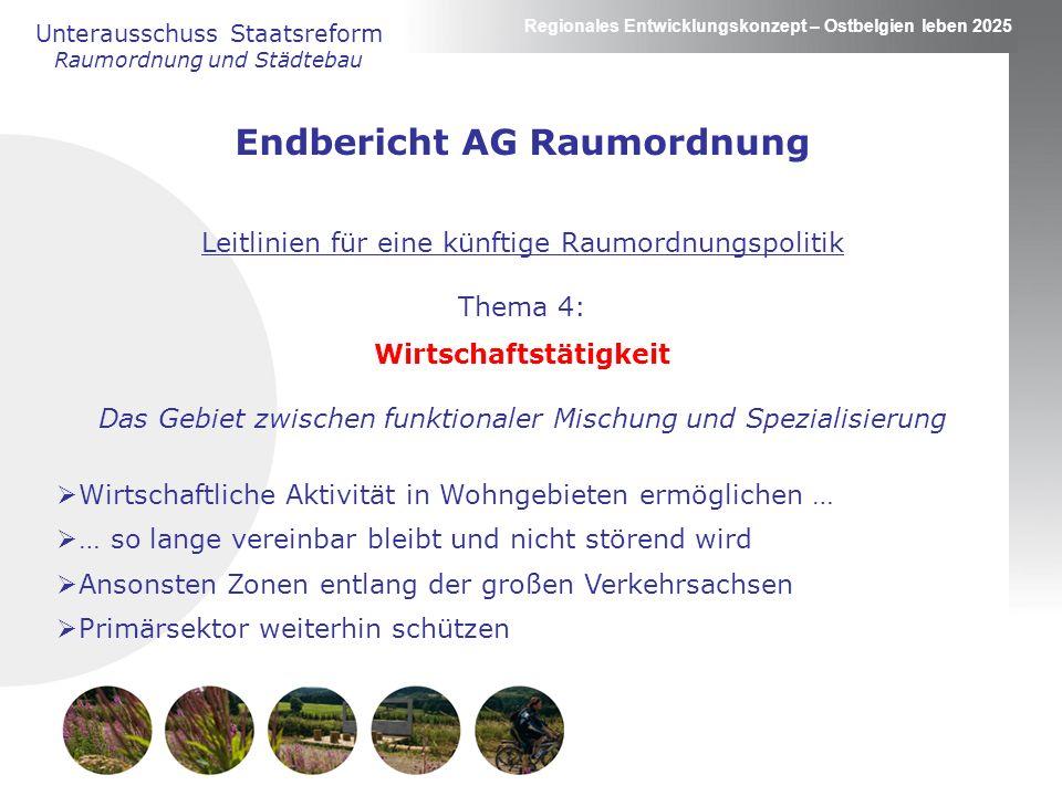 Endbericht AG Raumordnung Wirtschaftstätigkeit