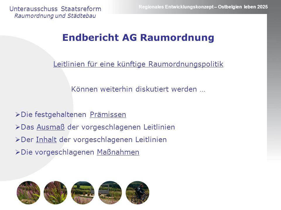 Endbericht AG Raumordnung