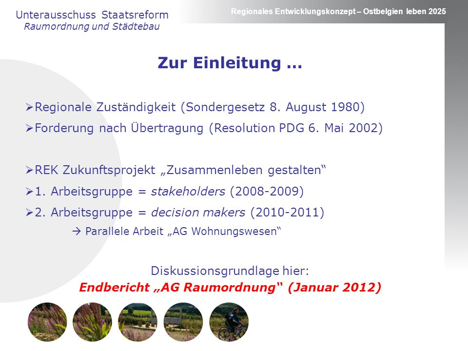 "Endbericht ""AG Raumordnung (Januar 2012)"