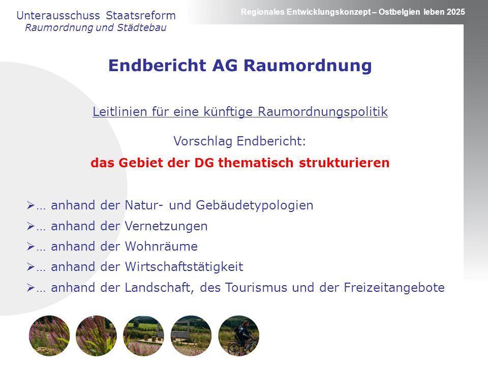 Endbericht AG Raumordnung das Gebiet der DG thematisch strukturieren