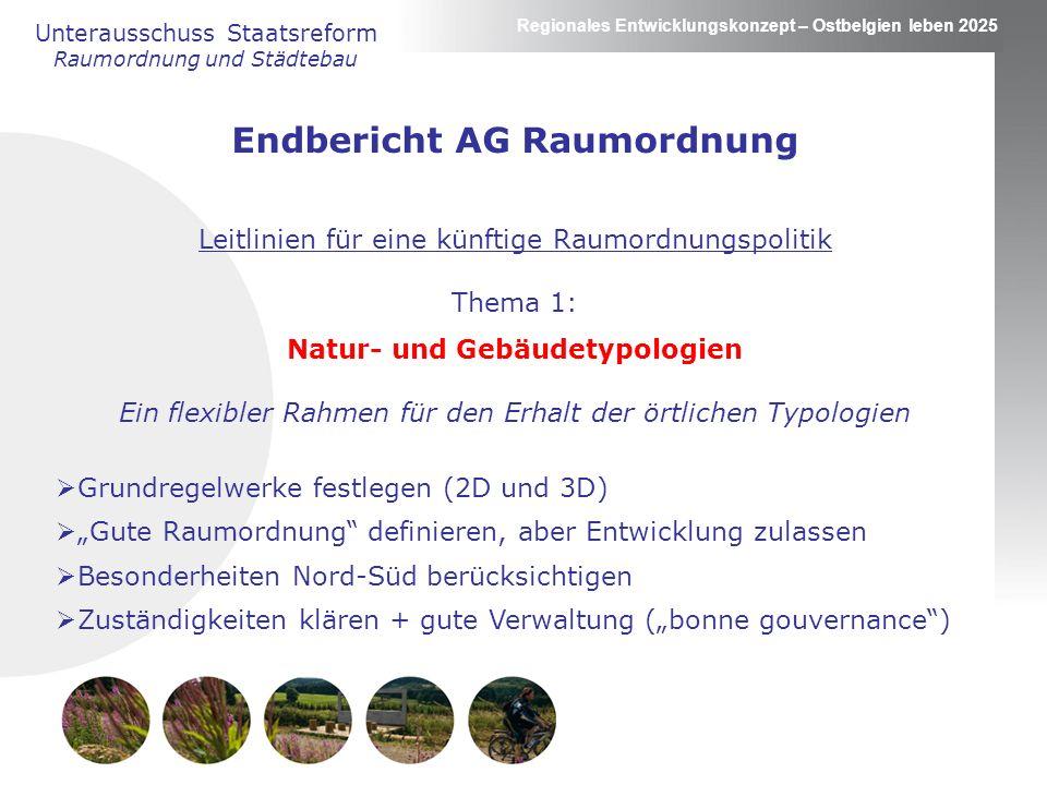 Endbericht AG Raumordnung Natur- und Gebäudetypologien