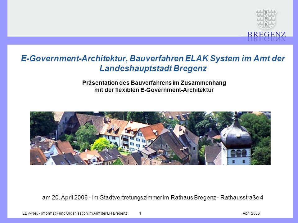 E-Government-Architektur, Bauverfahren ELAK System im Amt der Landeshauptstadt Bregenz