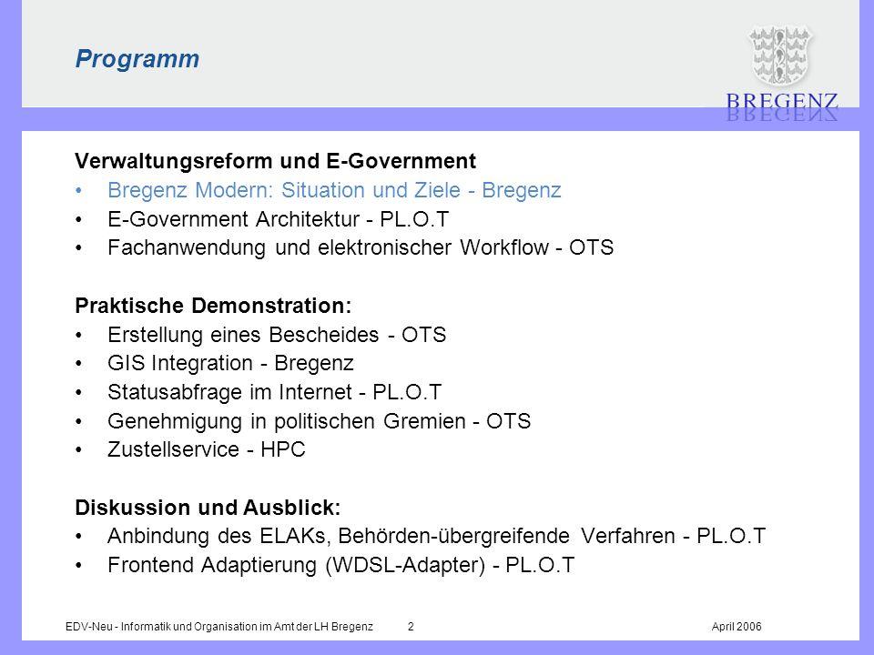 Programm Verwaltungsreform und E-Government