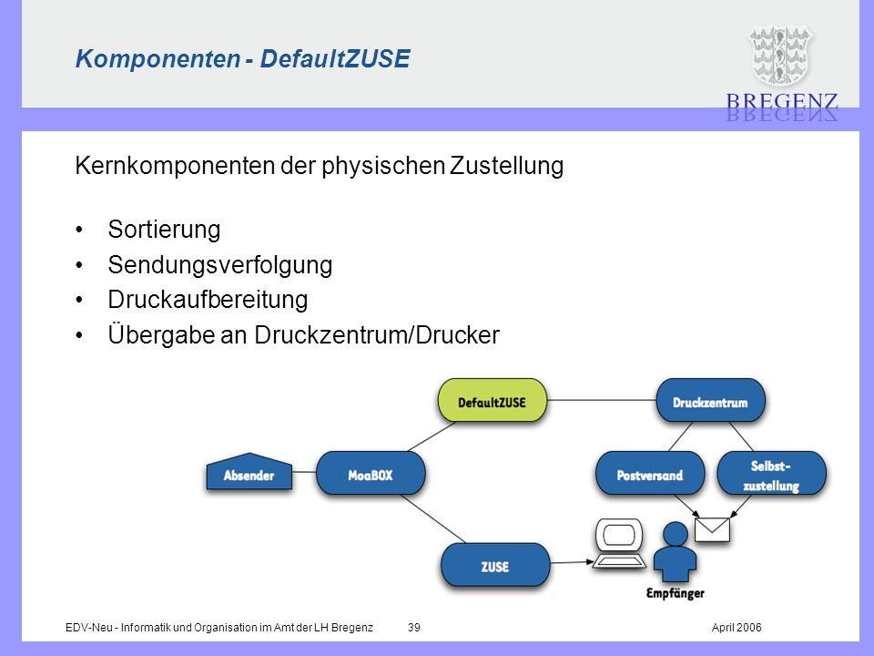 Komponenten - DefaultZUSE