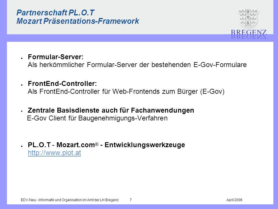 Partnerschaft PL.O.T Mozart Präsentations-Framework