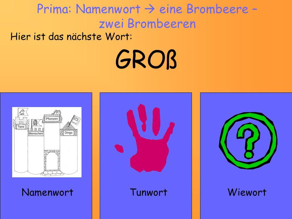 Prima: Namenwort  eine Brombeere – zwei Brombeeren
