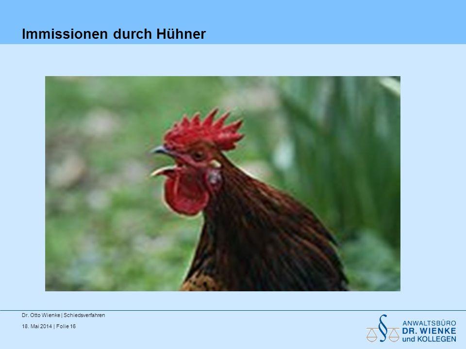 Immissionen durch Hühner