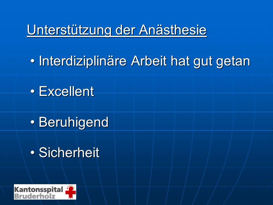 Unterstützung der Anästhesie