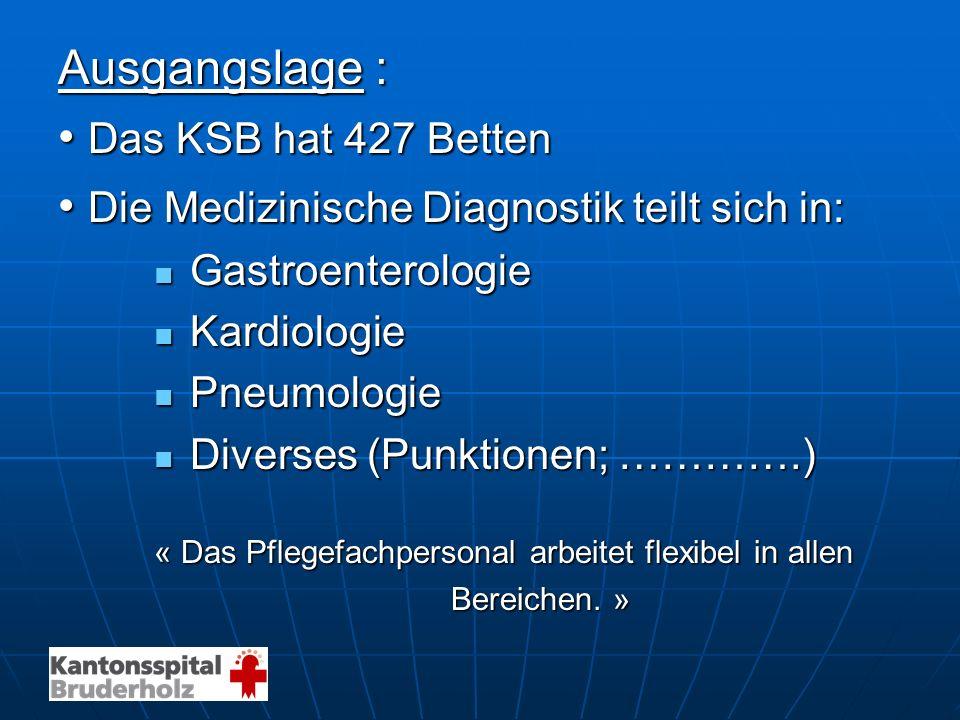 • Die Medizinische Diagnostik teilt sich in: