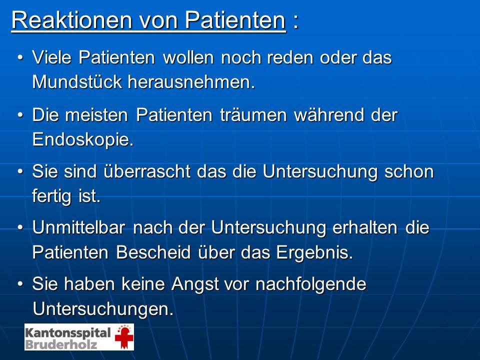 Reaktionen von Patienten :
