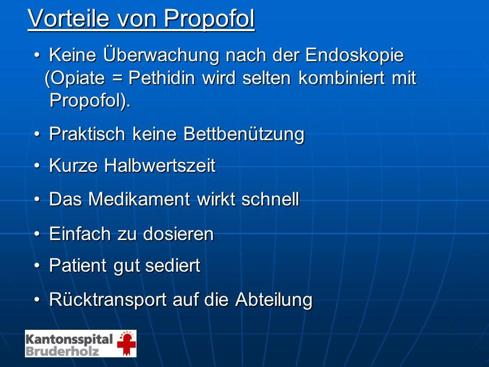 Vorteile von Propofol Keine Überwachung nach der Endoskopie