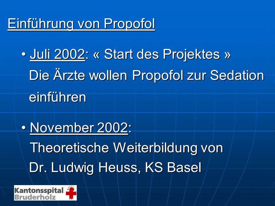 Einführung von Propofol