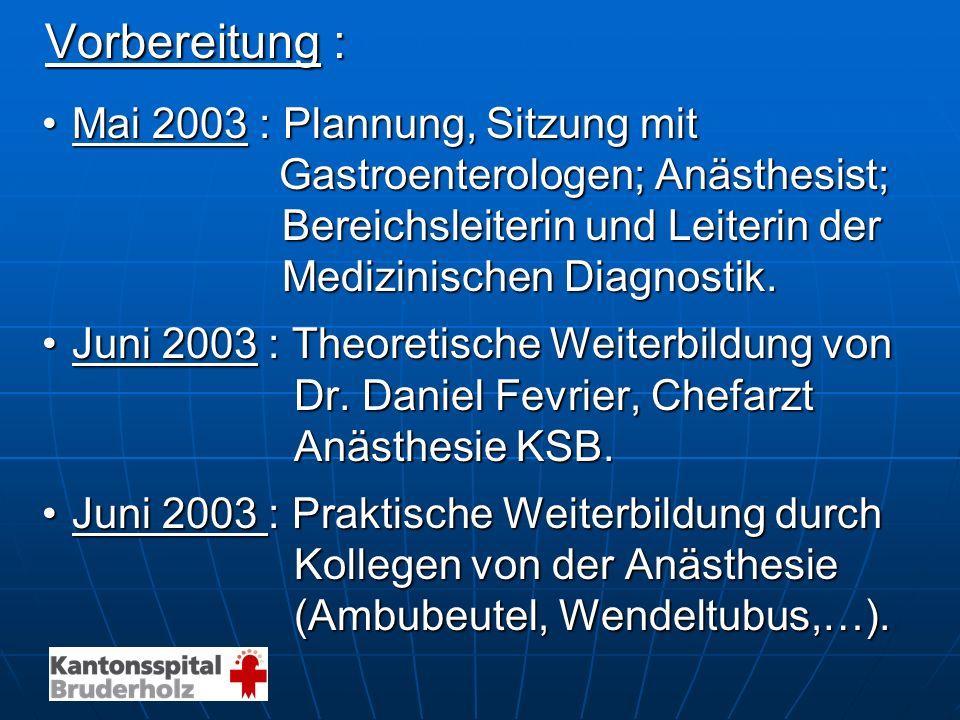 Vorbereitung : Mai 2003 : Plannung, Sitzung mit