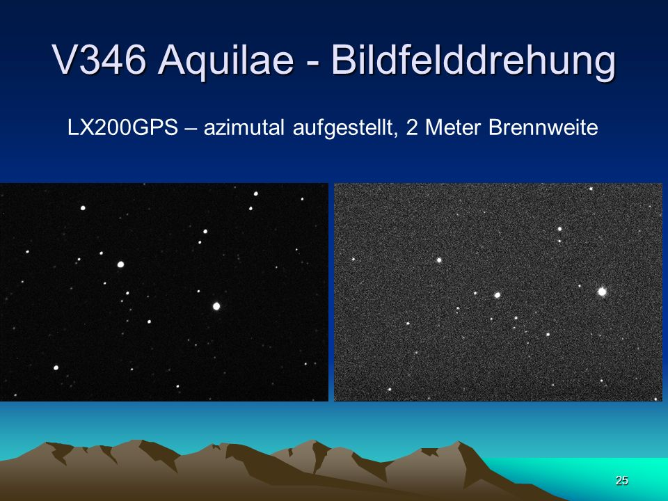 V346 Aquilae - Bildfelddrehung