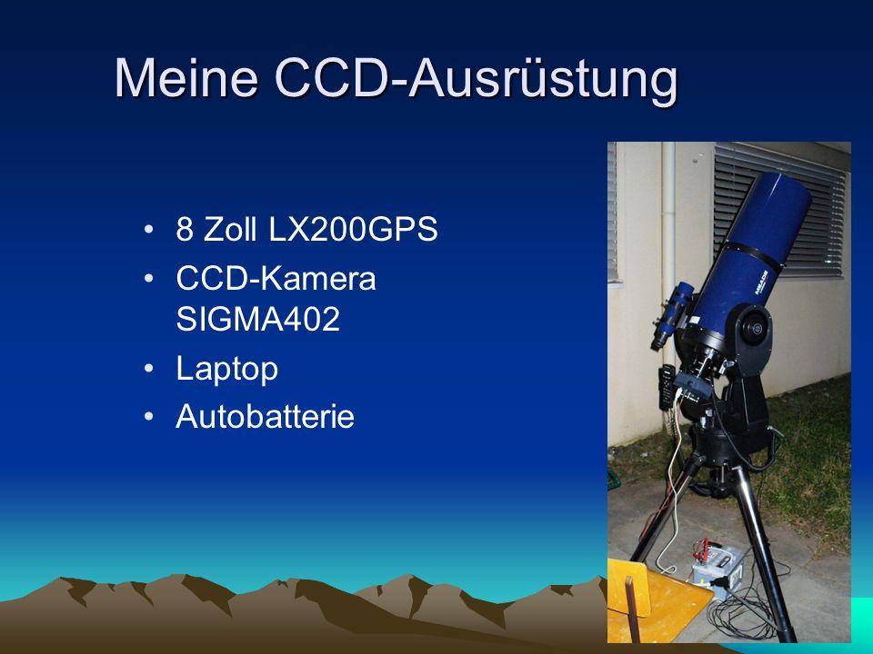 Meine CCD-Ausrüstung 8 Zoll LX200GPS CCD-Kamera SIGMA402 Laptop