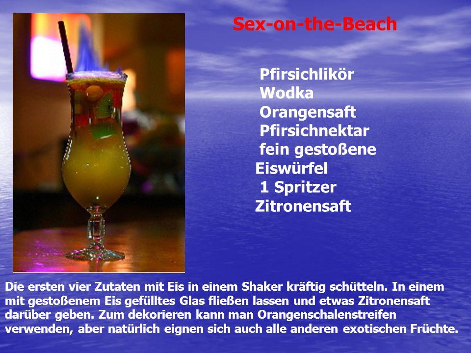 Sex-on-the-Beach Pfirsichlikör Wodka Orangensaft Pfirsichnektar