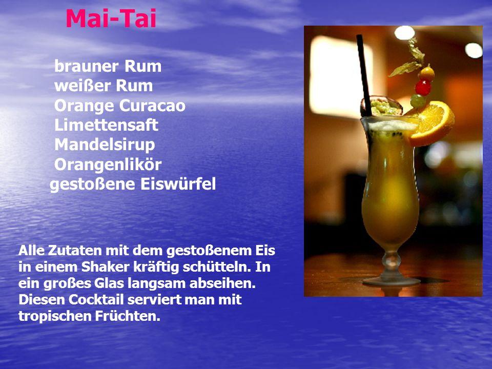 Mai-Tai brauner Rum weißer Rum Orange Curacao Limettensaft Mandelsirup