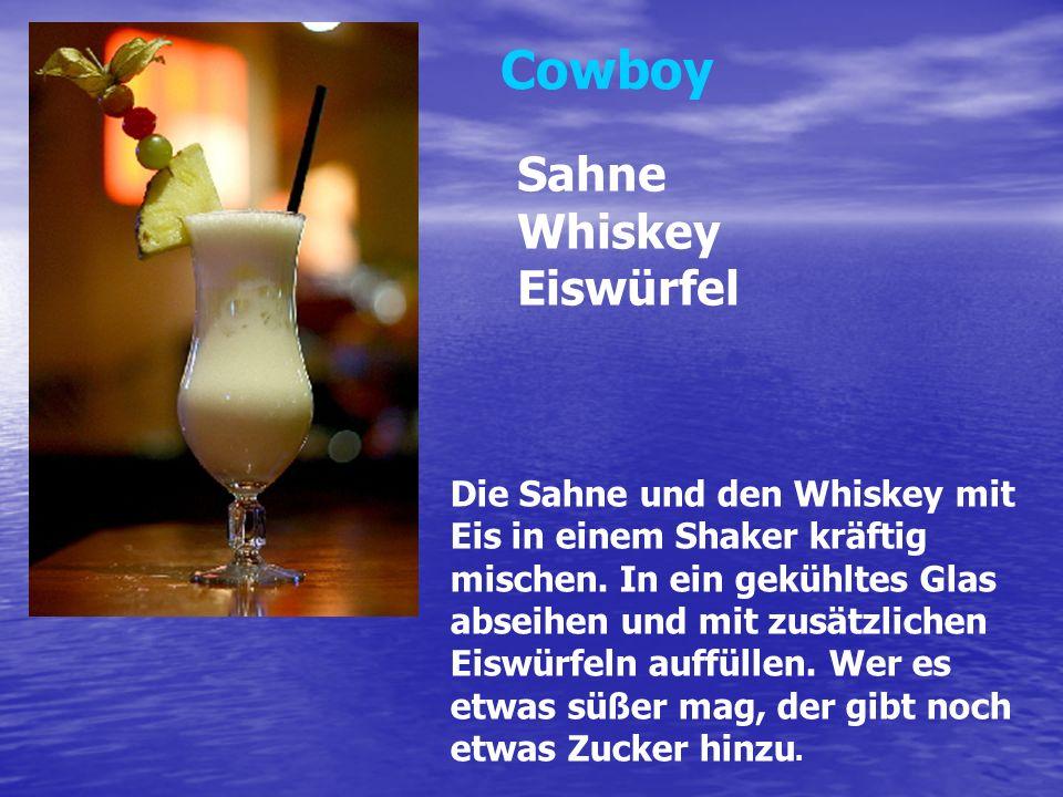 Cowboy Sahne Whiskey Eiswürfel
