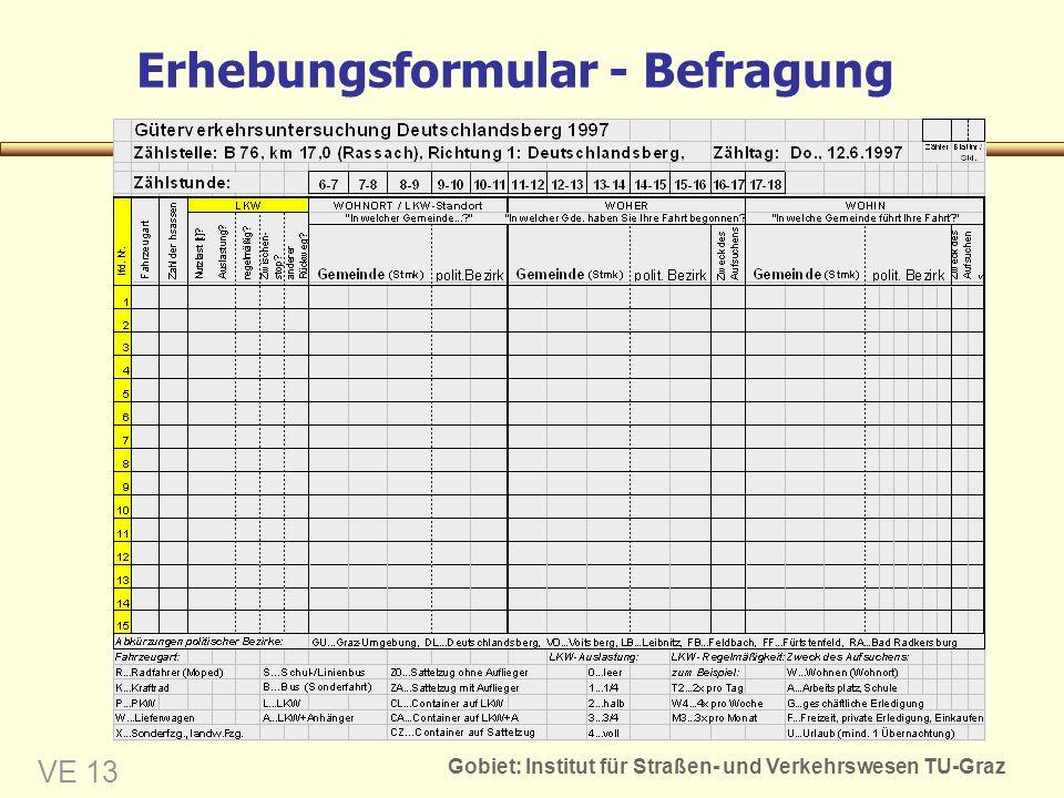 Erhebungsformular - Befragung