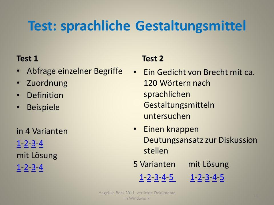 Test: sprachliche Gestaltungsmittel