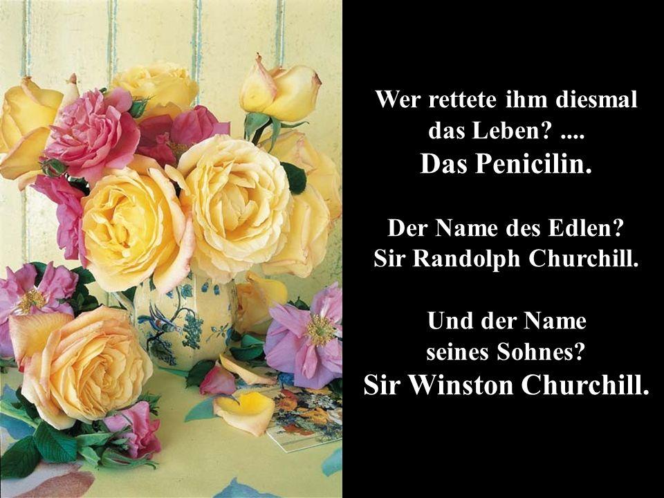 Wer rettete ihm diesmal das Leben .... Sir Randolph Churchill.