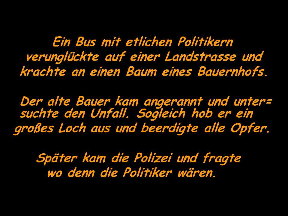 Ein Bus mit etlichen Politikern