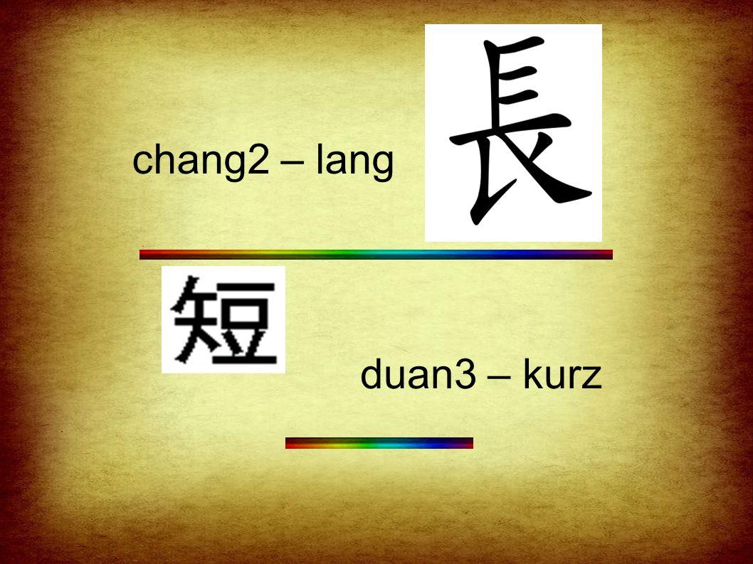 chang2 – lang duan3 – kurz