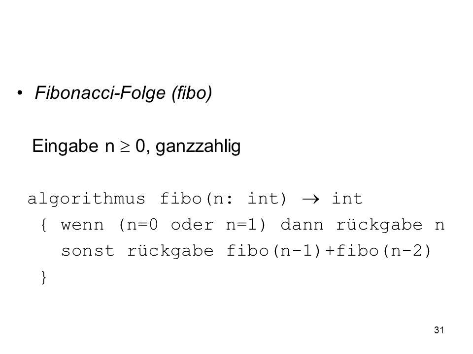 Fibonacci-Folge (fibo)