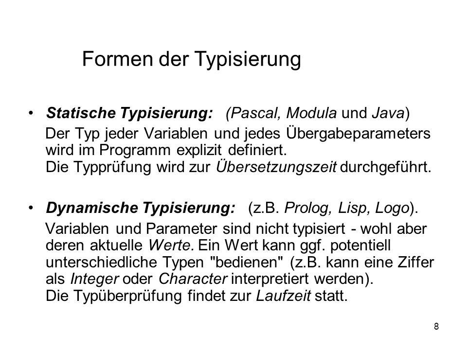 Formen der Typisierung