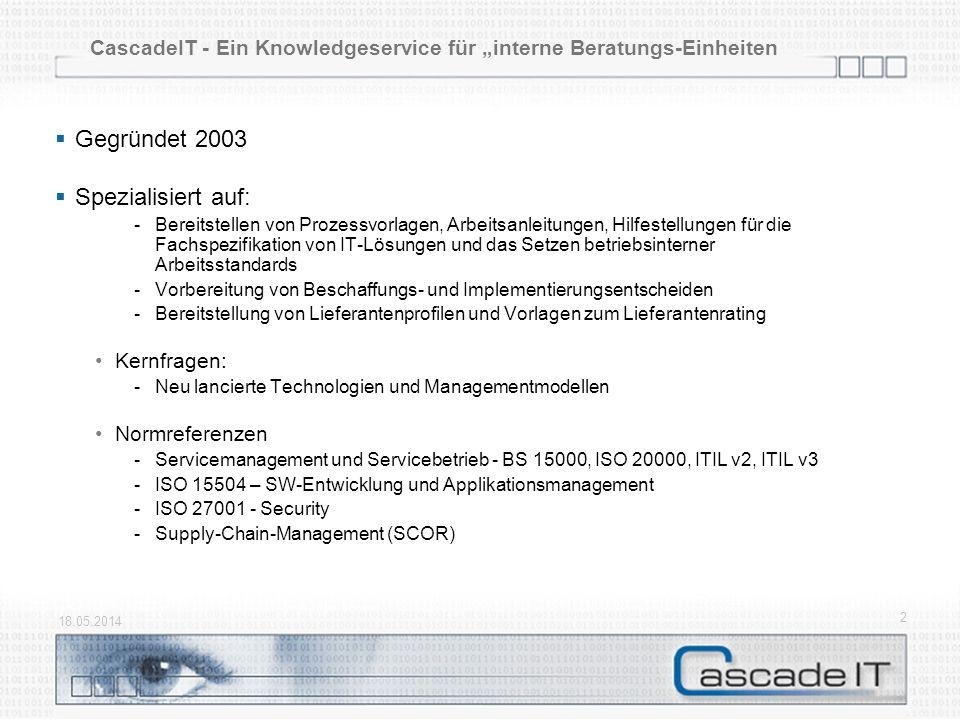 """CascadeIT - Ein Knowledgeservice für """"interne Beratungs-Einheiten"""