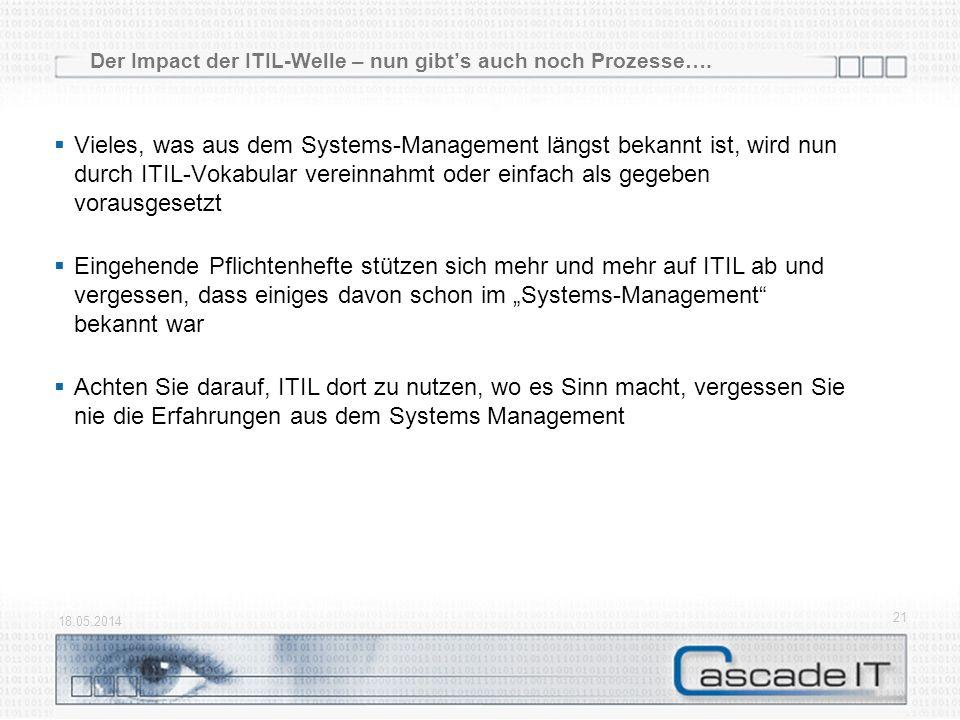 Der Impact der ITIL-Welle – nun gibt's auch noch Prozesse….