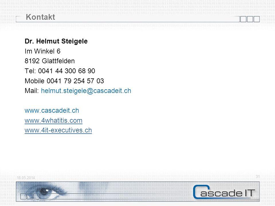 Kontakt Dr. Helmut Steigele Im Winkel 6 8192 Glattfelden