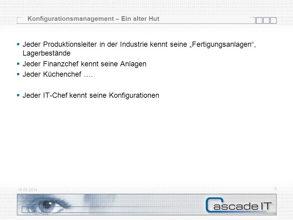 Konfigurationsmanagement – Ein alter Hut