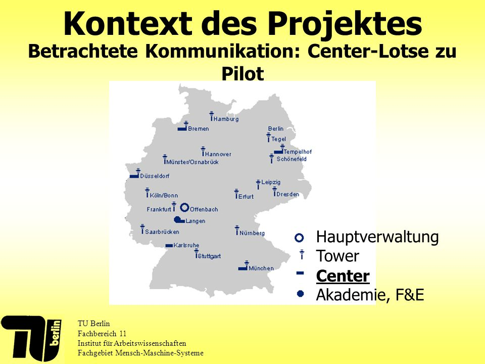 Betrachtete Kommunikation: Center-Lotse zu Pilot