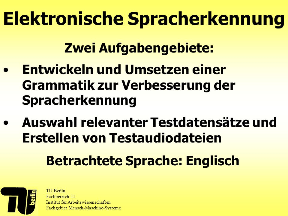 Elektronische Spracherkennung