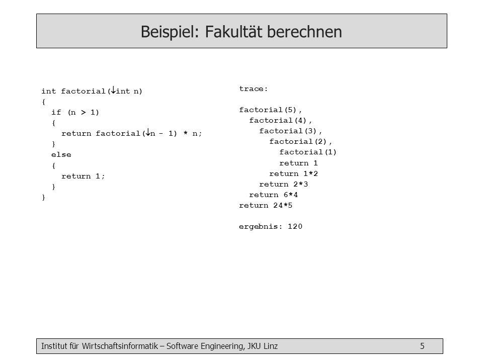 Beispiel: Fakultät berechnen