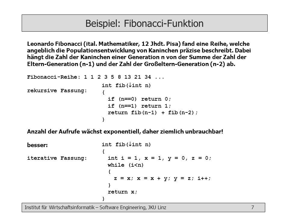 Beispiel: Fibonacci-Funktion