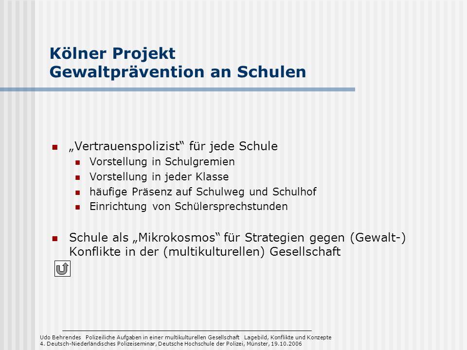 Kölner Projekt Gewaltprävention an Schulen