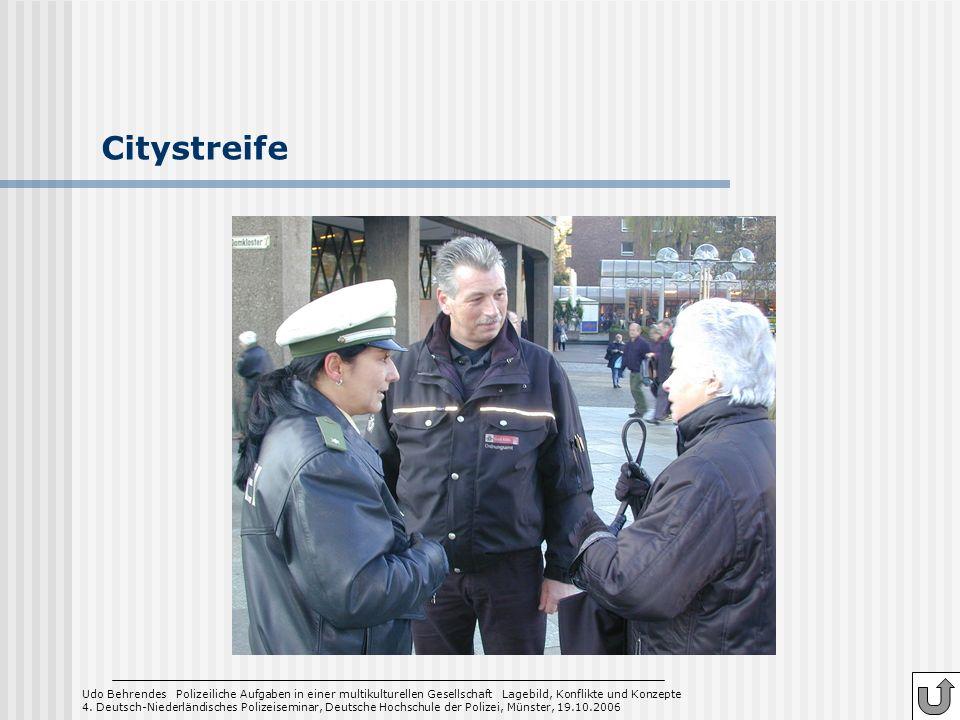 Citystreife 4. Deutsch-Niederländisches Polizeiseminar, Deutsche Hochschule der Polizei, Münster, 19.10.2006.