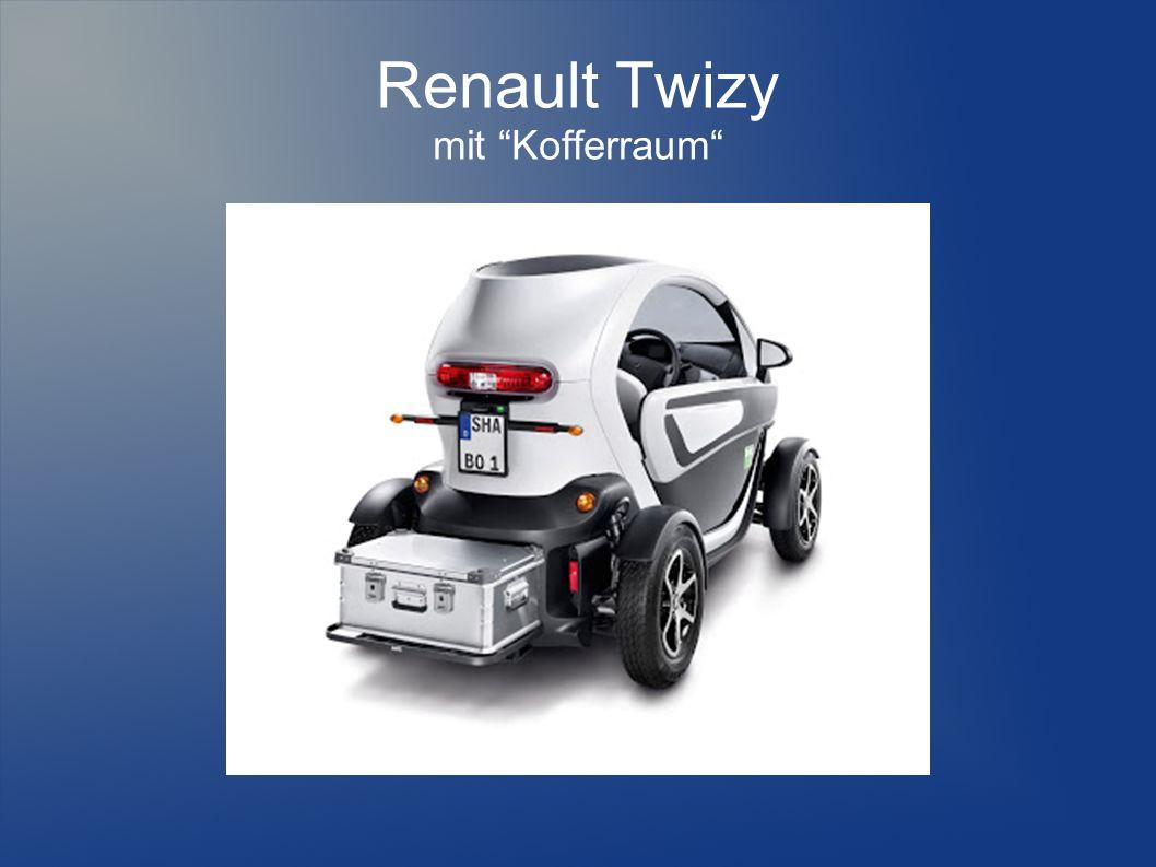 Renault Twizy mit Kofferraum