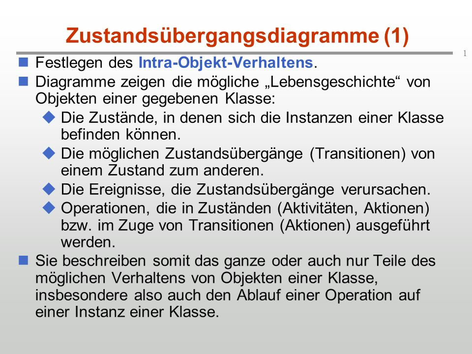 Zustandsübergangsdiagramme (1)