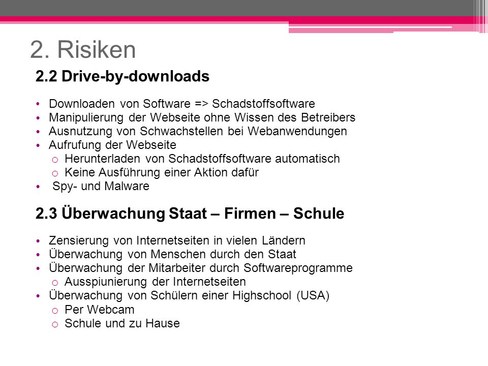 2. Risiken 2.2 Drive-by-downloads