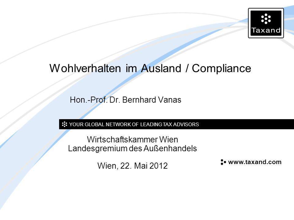 Wohlverhalten im Ausland / Compliance