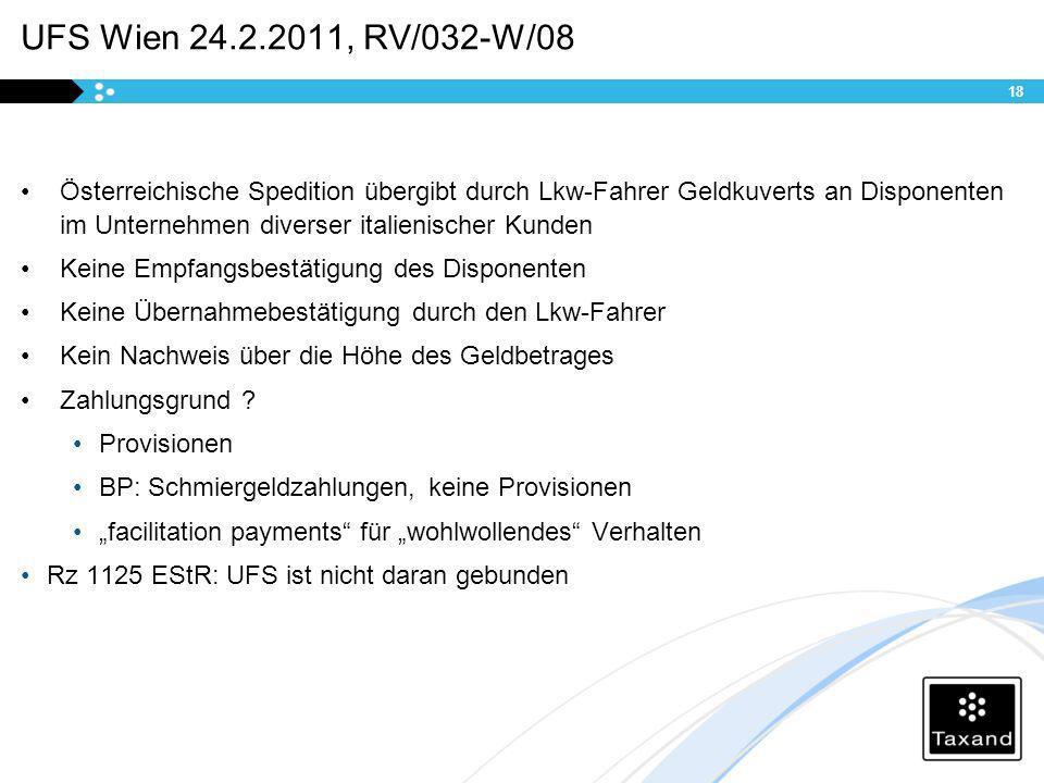 UFS Wien 24.2.2011, RV/032-W/08