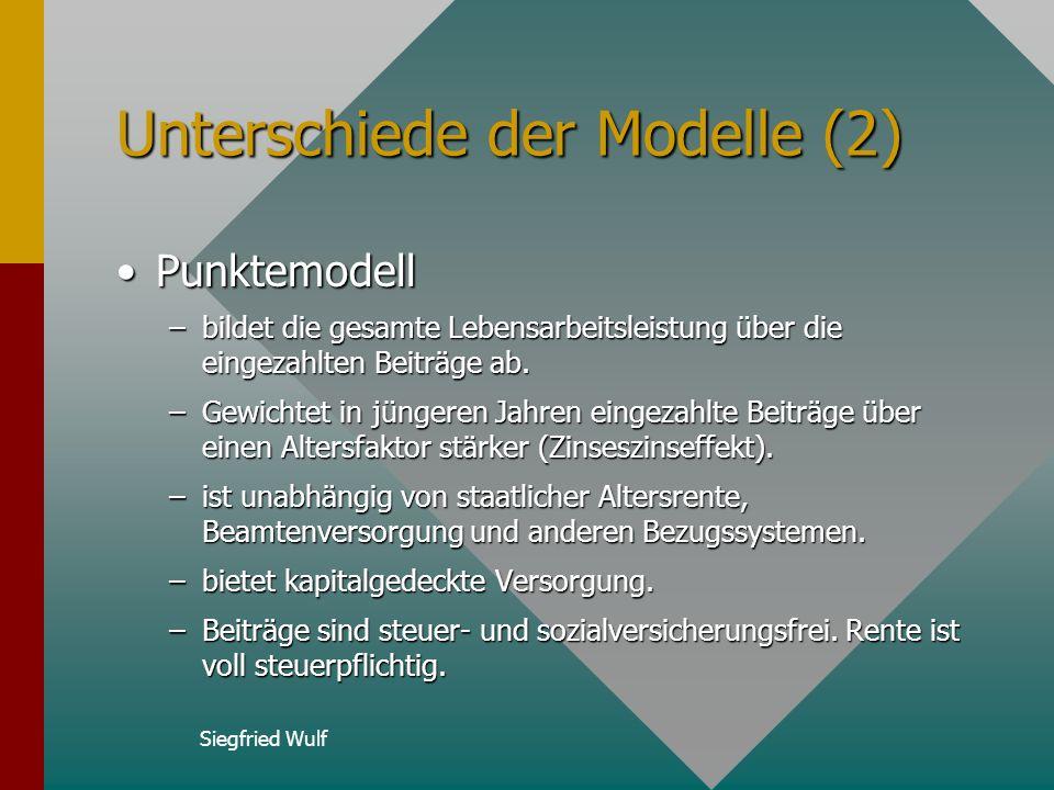 Unterschiede der Modelle (2)