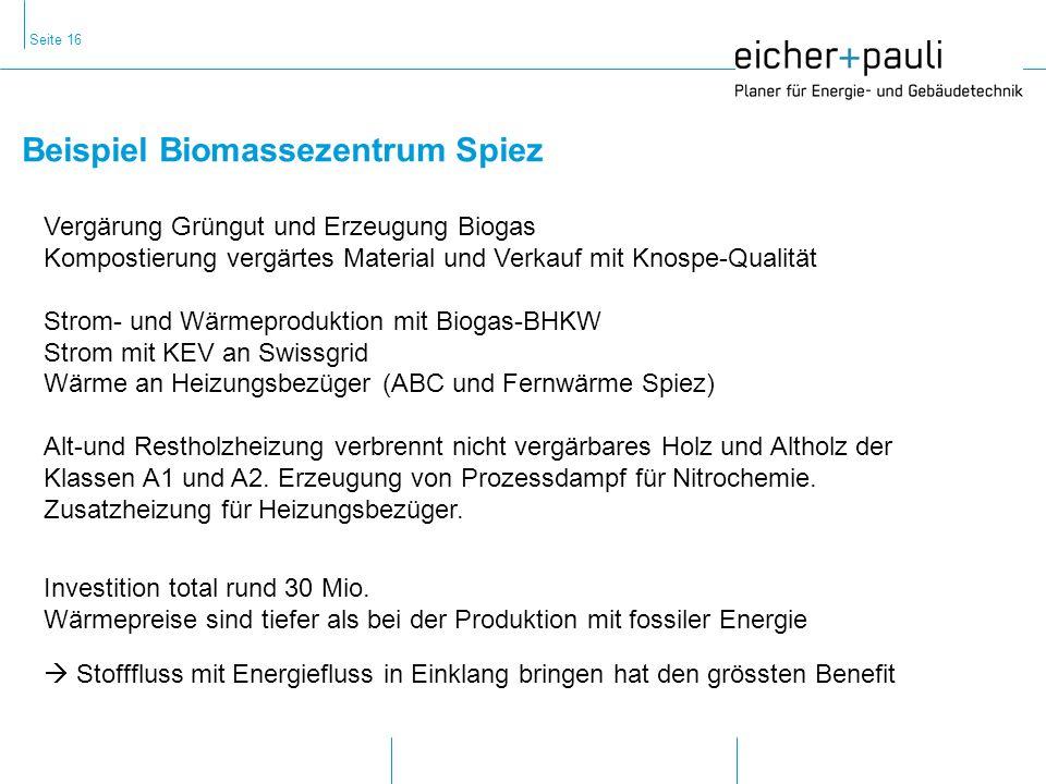 Beispiel Biomassezentrum Spiez