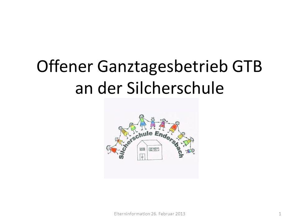 Offener Ganztagesbetrieb GTB an der Silcherschule