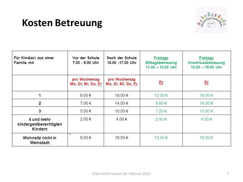 4 und mehr kindergeldberechtigten Kindern Wohnsitz nicht in Weinstadt